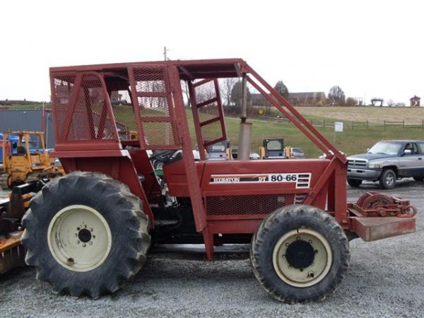 156: HESSTON 8066 4WD TRACTOR W/FORESTRY PACKAGE/WINCH  - 3