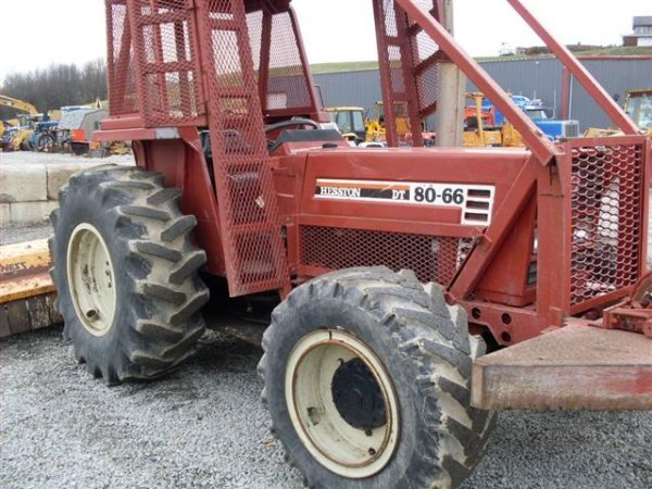 156: HESSTON 8066 4WD TRACTOR W/FORESTRY PACKAGE/WINCH  - 4
