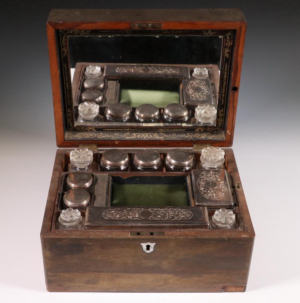 19TH C. TOILETRY BOX