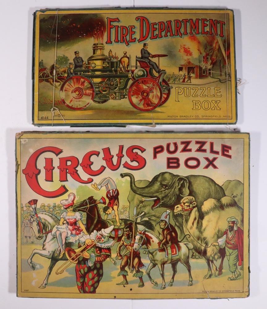 (2) VINTAGE MILTON BRADLEY PUZZLE SETS