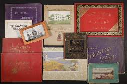 9 LATE 19THEARLY 20TH C TRAVEL PHOTO BOOKLETS
