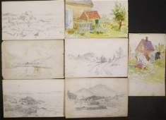 HENRY ORNE RIDER MA 18601943 SKETCH BOOK
