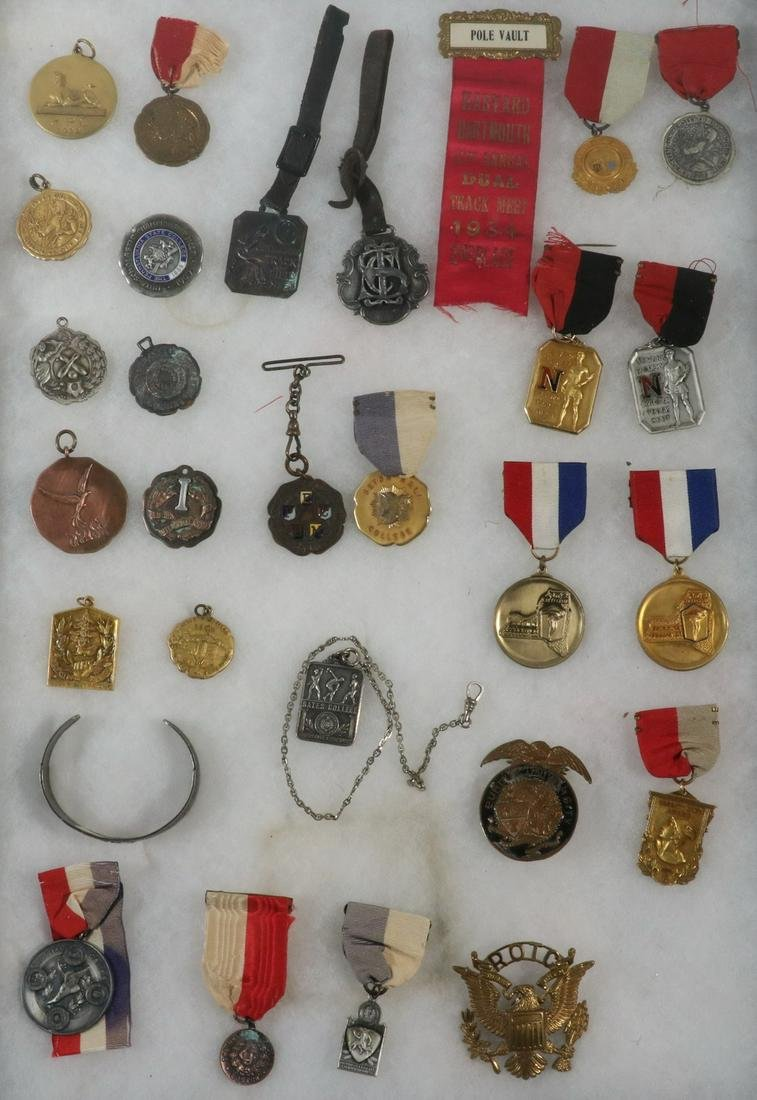 (29) EARLY COLLEGIATE ATHLETIC MEDALS AND FOBS