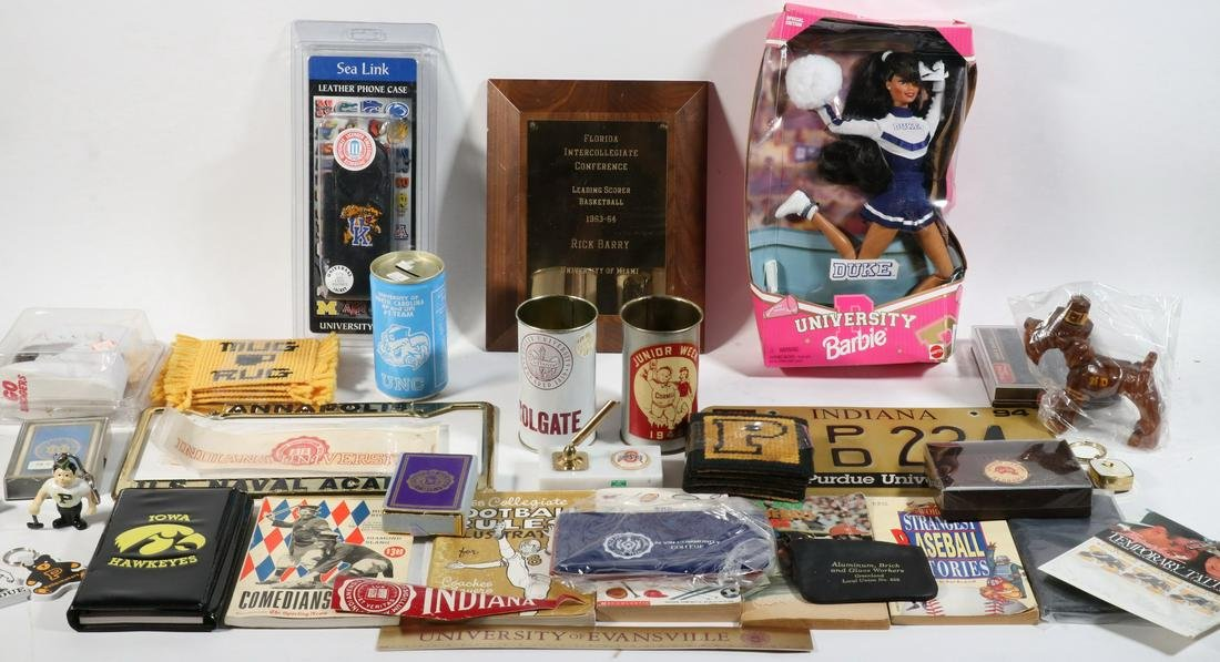 COLLECTION MID TO LATE 20TH C. COLLEGIATE PROMOTIONAL