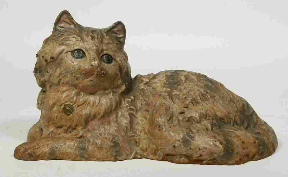 HUBLEY CAST IRON CAT DOORSTOP