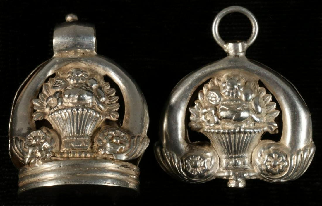 (2) STERLING WATCH FOBS