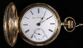 ELGIN POCKET WATCH WITH CHAIN AND FOB