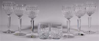 8 PCS BOXED WATERFORD CRYSTAL GLASSWARE