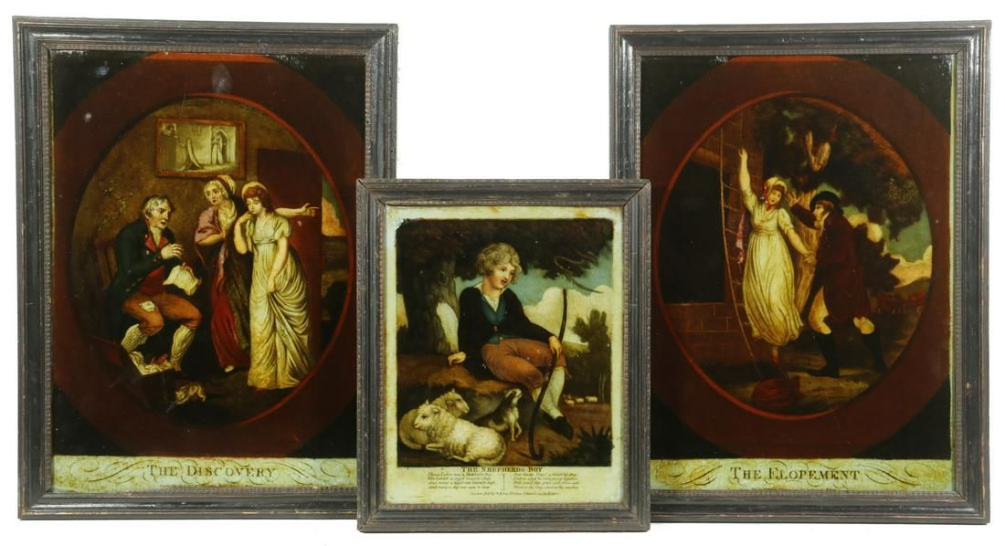 (3) LATE GEORGIAN COLORED LITHOGRAPHS IN THEIR ORIGINAL