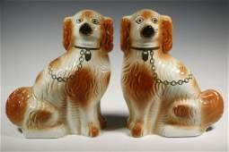 PR STAFFORDSHIRE DOG FIGURINES