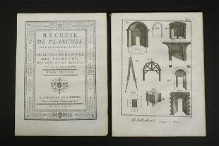 1730 FRENCH BOOK OF ARCHITECTURAL ENGRAVED PLATES,