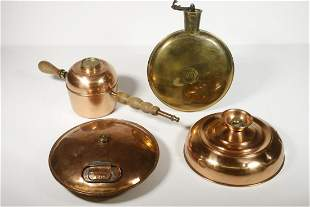 (4) COPPER & BRASS IMPLEMENTS
