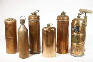 (6) FRENCH COPPER VESSELS