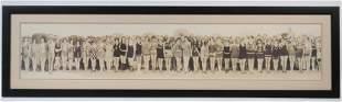 1925 CALIFORNIA BEAUTY CONTEST PANORAMIC PHOTO COPY