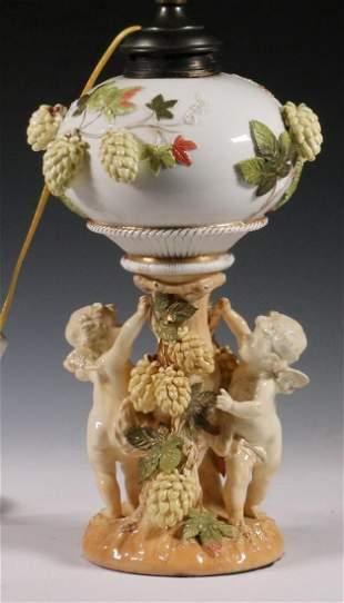 MOORE BROS. PORCELAIN TABLE LAMP