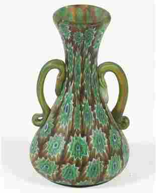 MILLEFIORI ART GLASS BUD VASE