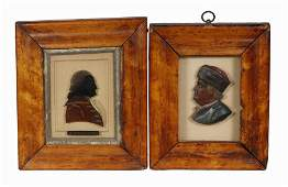 (2) EARLY 19TH C. MINIATURE PORTRAITS OF AMERICAN