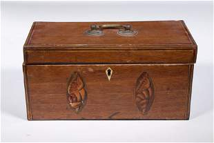 CONCH SHELL INLAID TEA CADDY