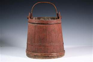EARLY PAINTED BUCKET