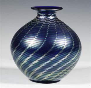 STEVEN CORREIA IRIDESCENT ART GLASS VASE