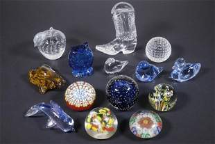 (14) GLASS PAPERWEIGHTS