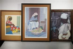 (3) PRINTS BY THE LYNN FAMILY OF ST. MARTIN