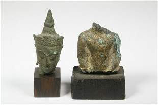 THAI MINIATURE BRONZE FIGURAL FRAGMENTS