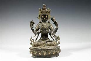 20TH C. BRASS HINDU STATUE