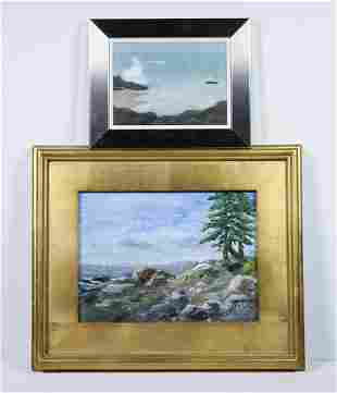 (2) CONTEMPORARY SEASCAPE PAINTINGS