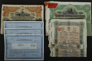 A COLLECTION OF FOREIGN AND AMERICAN BONDS