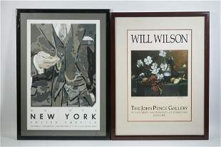 (2) 1980S FRAMED GALLERY EXHIBITION POSTERS