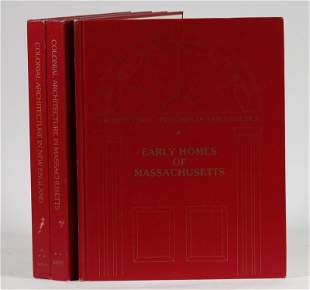 """(3 VOLS) """"ARCHITECTURAL TREASURES OF EARLY AMERICA"""""""