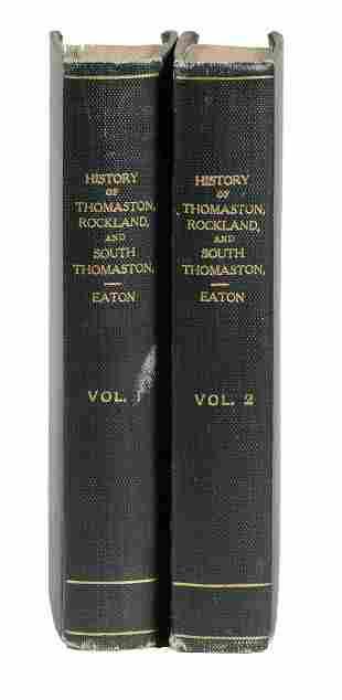 (2 VOL SET) BOOKS MAINE MIDCOAST HISTORY