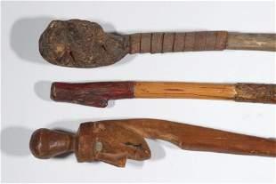 (3) EARLY AMERICAN FOLK ART CANES
