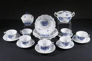 "(18 PCS) - ROYAL COPENHAGEN ""BLUE FLOWERS"" CHINA &"
