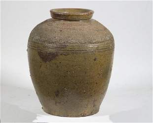CHINESE GLAZED STONEWARE JAR