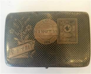 Silver cigarette box, Turkey