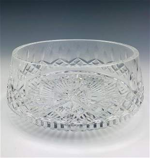 """Waterford Cut Crystal """"Lismore"""" Serving Centerbowl"""