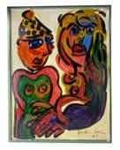 Peter Keil (German b.1942) Monroe Kennedy Painting