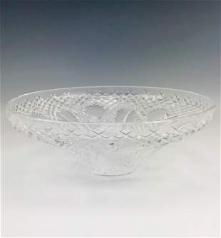 "Waterford Cut Irish Crystal 12"" Centerpiece Bowl"