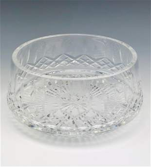 Signed Waterford Cut Crystal Lismore Serving Bowl
