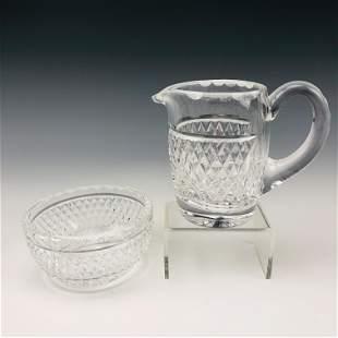 Waterford Crystal Cashel Milk Creamer & Sugar Bowl