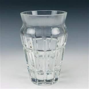 Baccarat French Cut Crystal Nadine Art Glass Vase