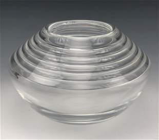 Steuben Crystal Momentum Hand Blown Art Glass Bowl