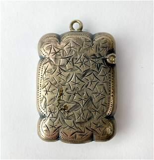 Antique English Sterling Silver Vesta Match Safe