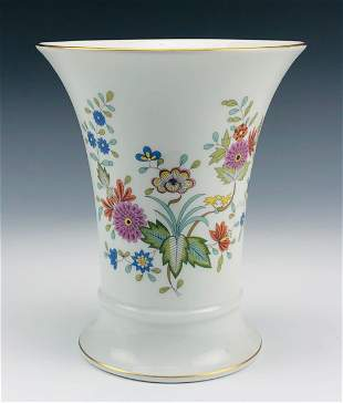 Hutschenreuther German Porcelain Floral Shelf Vase