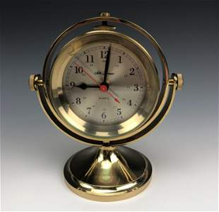 Seth Thomas Nautical Brass Gimbal Ship Boat Clock