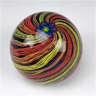 Signed Caithness Scotland Art Glass Paperweight