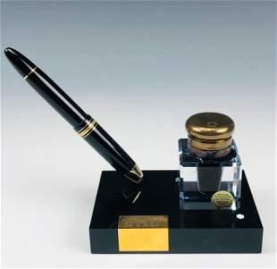 Montblanc Meisterstuck # 149 Fountain Pen w Holder