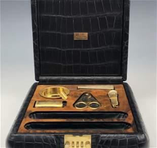 Harrison James Savinelli Black Leather Cigar Safe